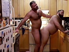 Kitchen quickie, gay daily life, assfuck