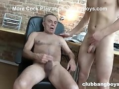 Twink Can't Get Enough of Old Man's Cum