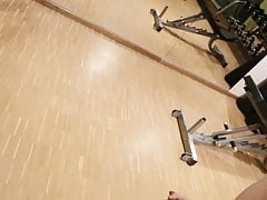 Risky Masturbation in the Gym at the Hotel