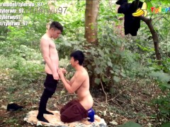 'My high school crush fucks me in the forest (asian interracial)'