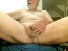 grandfather stroke on web cam